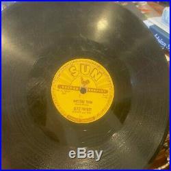 Elvis Presley Mystery Train on Sun 223 original 78 rpm, 1955 HEAR IT