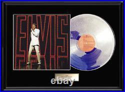 Elvis Presley Nbc Tv Comeback Special White Gold Silver Platinum Tone Record Lp