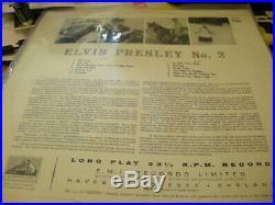Elvis Presley No. 2 LP (HMV CLP 1105) SUPER RARE wont find another this good EX