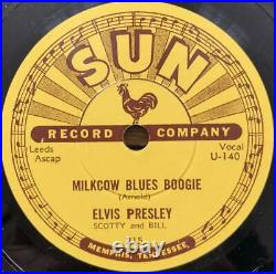 Elvis Presley On 78Rpm 10Inch Reissued Sun Records Sheets 10 Sides