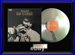 Elvis Presley On Stage White Gold Silver Platinum Tone Record Lp Frame Non Riaa