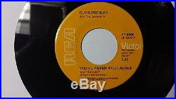 Elvis Presley One of a kind Orange label 45 Only one known to exist