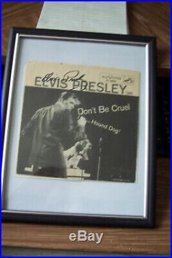 Elvis Presley Original Autograph Signed Record From Estate Sale Dont Be Cruel