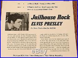 Elvis Presley Original Jailhouse Rock Epa-4114 Rare! 1957
