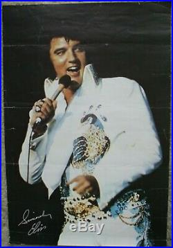 Elvis Presley Original Las Vegas Hilton Summer Festival Poster Menu 1975