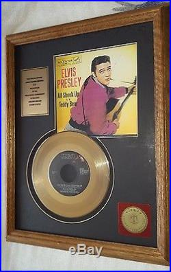 Elvis Presley Original RCA 24 Kt Gold Plated 12Record Let Me Be Your TEDDY BEAR