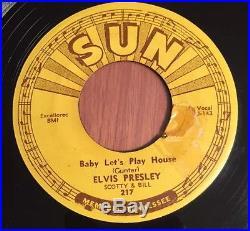 Elvis Presley Original SUN 217 1955 745 Push Marks Nice Authentic $1 No Reserve