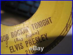 Elvis Presley Original Sun Records 45 Good Rockin' Tonight with 3 PUSH MARKS