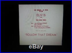 Elvis Presley Original Very Rare Follow That Dream Ep Cover Near Mint 1962