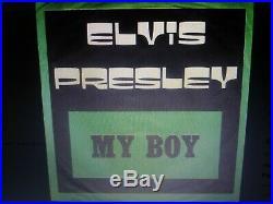 Elvis Presley Original Very Rare Gray Label My Boy/loving Arms Insert 1974 Ex