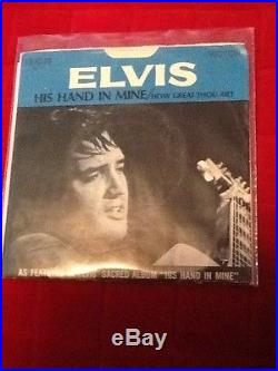 Elvis Presley Picture Sleeve 45 74-0130 How Great Thou Art Collectible