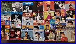 Elvis Presley Picture Sleeve 45 RPM Record Lot Of 31