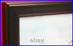 Elvis Presley Poster Art Wood Framed 45 Gold Record Display C3