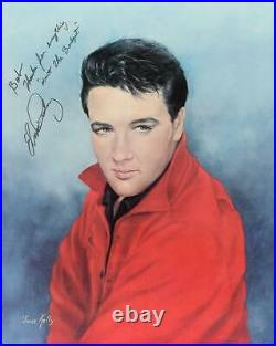 Elvis Presley Print Signed To Producer Of His Legendary 68 Comeback Special PSA
