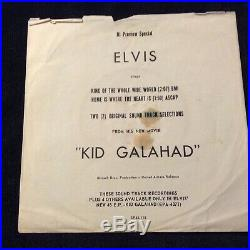 Elvis Presley Promo Only Sp45-118 King Of The Whole Wide World With Rare Sleeve