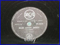Elvis Presley RCA 20-6636 Blue Suede Shoes 78 With Rare NZ Sleeve 1956 New Zealand
