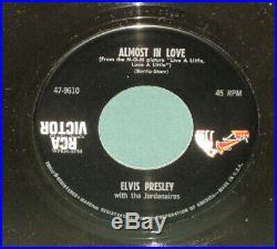 Elvis Presley RCA 47-9610 Almost In Love 45 Sleeve MISLABEL Logo DOS MINT Rare