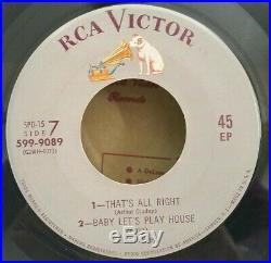 Elvis Presley RCA 559-9089 SPD-15 ELVIS EP (GREAT RARE ROCKABILLY EP-45) OBO