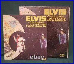 Elvis Presley RCA Aloha Via Satellite LP VPSX-6089 Store Display Ad 1973 RARE