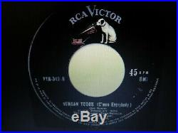 Elvis Presley Rare Cmon Everybody/if You Think I Dont Need You 45&ps Nm Peru 64