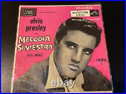 Elvis Presley Rare Ep Argentina Melodia Siniestra- Ep Ave 219- 1958 King Creole