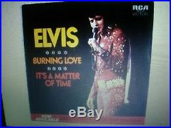 Elvis Presley Rare Gray Label Burning Love/its A Matter Of Time 45 Ex-nm