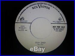 Elvis Presley Rare Original Old Shep White Label Promo 45 Ex-nm 1956