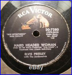 Elvis Presley Rca 7280 Vg/vg+ Hard Headed Woman