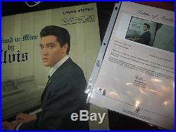 Elvis Presley SIGNED LP album record His Hand in Mine inscribed RARE singer COA