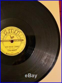 Elvis Presley SUN 210 78 rpm Good Rockin' Tonight SUPER RARE 1st Label VG