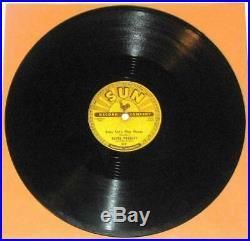Elvis Presley SUN 217 BABY LET'S PLAY HOUSE 78 RPM Clean Glossy Original Shellac