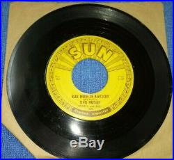 Elvis Presley SUN Records 1954 That's All Right/Blue Moon of Kentucky 45 7 PUSH