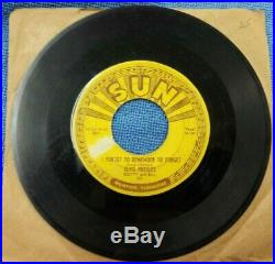 Elvis Presley SUN Records 1955 Mystery Train/I Forgot to Remember Forget 45 7