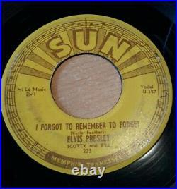 Elvis Presley SUN Records Original 45 rpm Mystery Train 1955 RARE! VG+ SUN 223