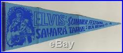 Elvis Presley Sahara Tahoe Summer Festival 1971 Pennant 12 X 30 RCA Records