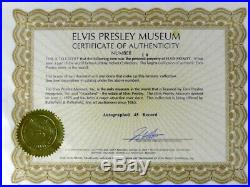 Elvis Presley Signed Autographed 45 Record in Sleeve 100% Authentic