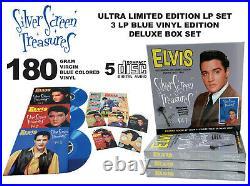 Elvis Presley Silver Screen Treasures vol. 1 3 LP / 5 CD box BLUE vinyl RARE