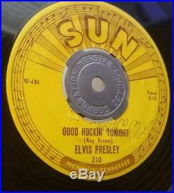 Elvis Presley Sun 210 Good Rockin' Tonight / I Don't Care If The Sun Don't 45