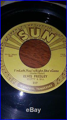 Elvis Presley Sun 217 Baby Let's Play House/i'm Left Memphis Pressing