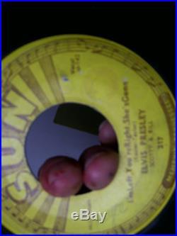 Elvis Presley Sun 217 Baby let's play house 45 rpm