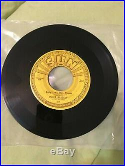 Elvis Presley Sun 45 217 Baby Let's Play House I'm Left You're Right She's Gone