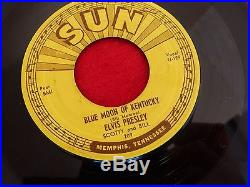 Elvis Presley Sun 45 five record 209 Blue Moon of Kentucky-Thats All Right 1954