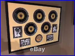 Elvis Presley Sun Records 45 RPM all 5 framed original