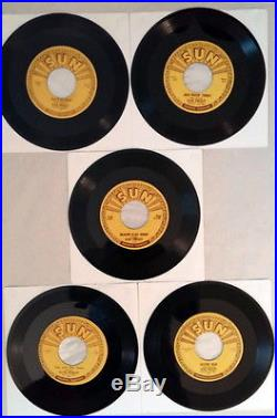 Elvis Presley Sun Records 45's Original 5 Record Set 209 210 215 217 223