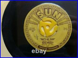 Elvis Presley Sun Records Original Set 209 210 215 217 223 Pushmark Rare 1954