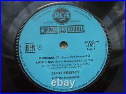 Elvis Presley Surrender France MEGA RARE Compact 33 E. P + PS 33.001