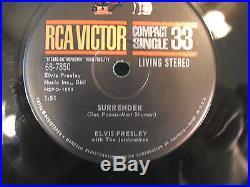 Elvis Presley, Surrender / Lonely Man, 68-7850, RCA Victor Compact 33, 7, RARE