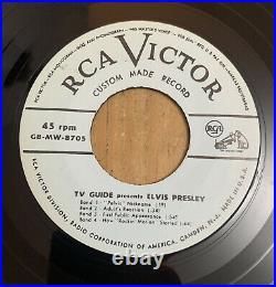 Elvis Presley TV Guide Presents Elvis Presley Rare Promo Single Sided 7