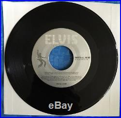 Elvis Presley That's All Right 7 45 Promo Illuminated Record Player