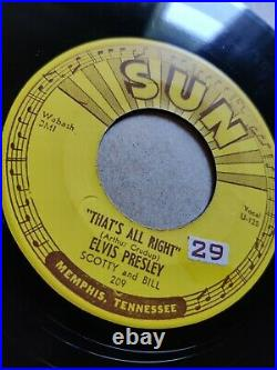 Elvis Presley / That's All Right Blue Moon Of Kentucky. (45 RPM Used) Sun 209